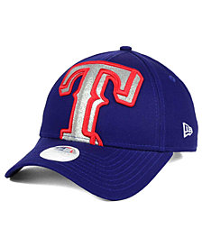 New Era Women's Texas Rangers Glitter Glam 9FORTY Strapback Cap