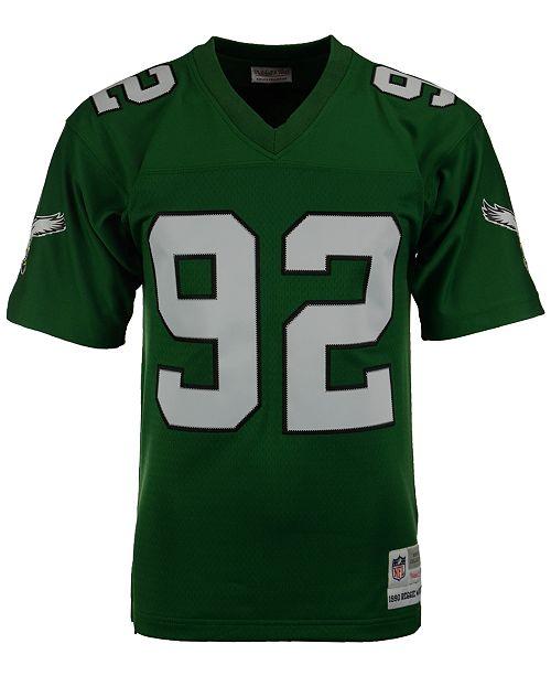 05618e2805e Mitchell   Ness Men s Reggie White Philadelphia Eagles Replica Throwback  Jersey ...