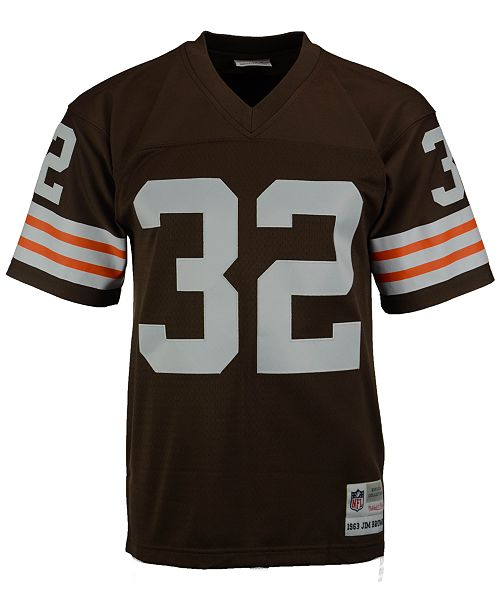info for f3e06 007ec Men's Jim Brown Cleveland Browns Replica Throwback Jersey