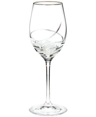 Stemware, Ballet Ribbon Essence Platinum Wine Glass