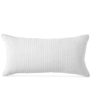 "Image of Dkny Refresh Eyelet 11"" x 22"" Decorative Pillow Bedding"