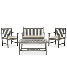 Kellman Outdoor 4-Pc. Seating Set (1 Loveseat, 2 Chairs & 1 Coffee Table)
