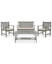 Kellman Outdoor 4-Pc. Seating Set (1 Loveseat, 2 Chairs & 1 Coffee Table), Quick Ship