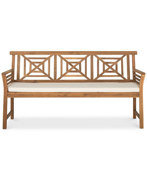 Safavieh Aimie Outdoor Bench, Quick Ship