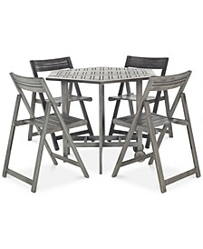 Manton Outdoor 5-Pc. Dining Set (Dining Table & 4 Chairs)
