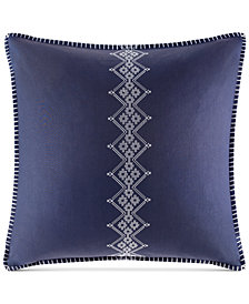 CLOSEOUT! Echo Cotton Shibori Embroidered European Sham