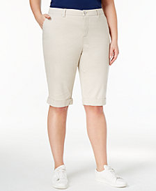 Style & Co Plus Size Cuffed Bermuda Shorts, Created for Macy's
