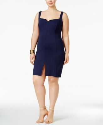 Love Squared Trendy Plus Size Front-Slit Bodycon Dress