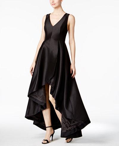 Calvin Klein High Low A Line Gown