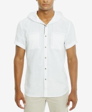 Kenneth Cole Reaction Men's Linen Hooded Shirt
