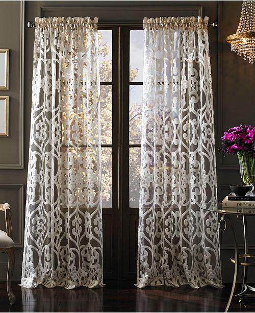 J Queen New York Tango Sheer Window Panel Collection