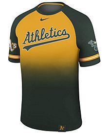 Nike Men's Oakland Athletics Dri-Fit Sublimated Raglan T-Shirt