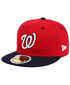 Kids' Washington Nationals Authentic Collection 59FIFTY Cap