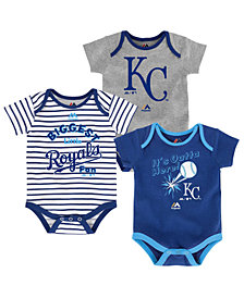 Majestic Kansas City Royals Homerun 3-Piece Set, Baby Boys (0-9 months)