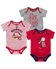 Majestic St. Louis Cardinals Homerun 3-Piece Set, Baby Boys (0-9 months)