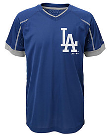 Majestic Los Angeles Dodgers Emergence Crew T-Shirt, Big Boys (8-20)