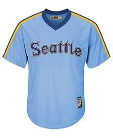 Men's Seattle Mariners Cooperstown Blank Replica CB Jersey