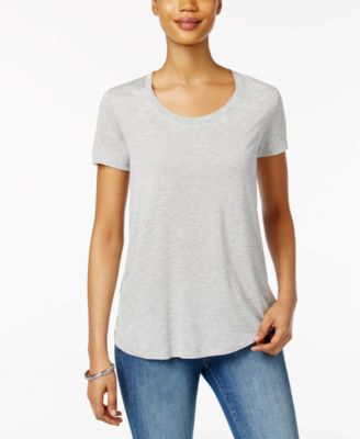 Image of Style & Co Scoop-Neck T-Shirt, Only at Macy's