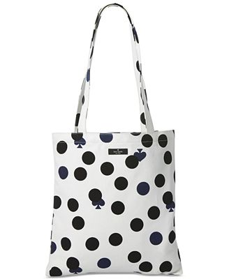 Kate spade new york dot canvas tote bag macys kate spade new york dot canvas tote bag junglespirit Image collections