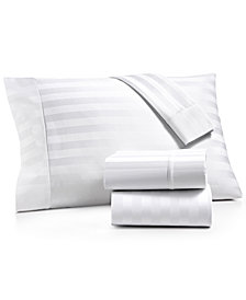 AQ Textiles Bergen Stripe 4-Pc. California King Sheet Set, 1000 Thread Count 100% Certified Egyptian Cotton