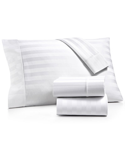 AQ Textiles Bergen Stripe 4-Pc. Queen Extra-Deep Sheet Set, 1000 Thread Count 100% Certified Egyptian Cotton