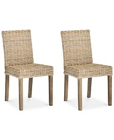Khalee Set of 2 Wicker Dining Chairs, Quick Ship