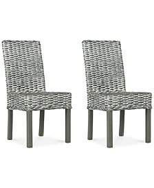 Nivan Set of 2 Dining Chairs, Quick Ship