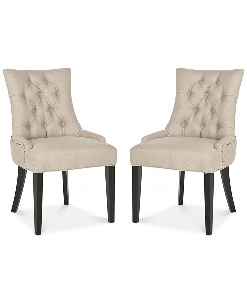 Furniture Sidonia Set of 2 Side Chairs, Quick Ship