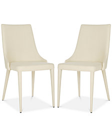 Channing Set of 2 Dining Linen Chairs, Quick Ship