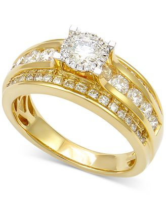 Diamond Multi-Row Engagement Ring (1-1/2 ct. t.w.) in 14k Gold