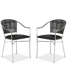 Honner Set of 2 Arm Dining Chairs, Quick Ship
