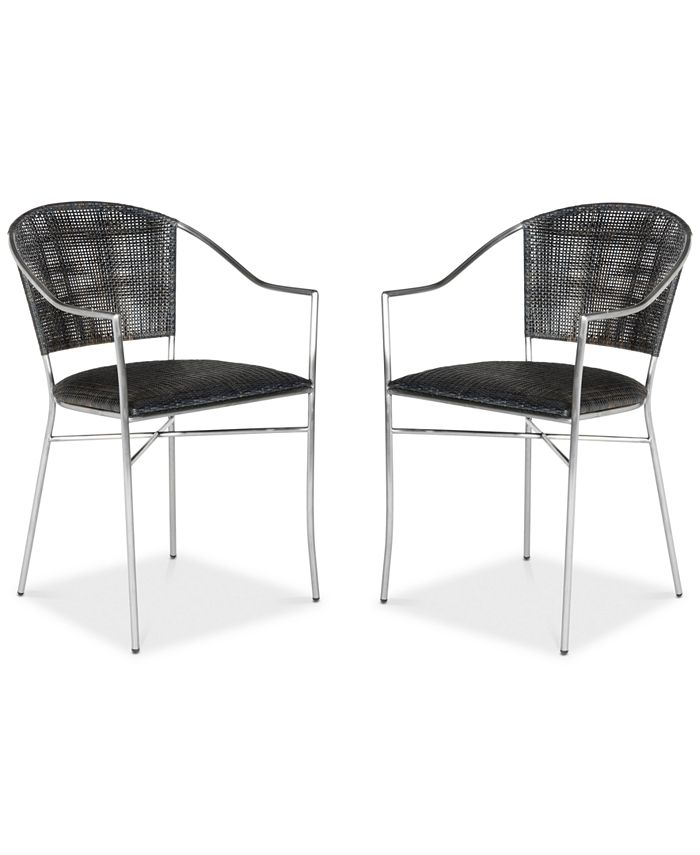 Safavieh - Honner Set of 2 Arm Dining Chairs, Quick Ship