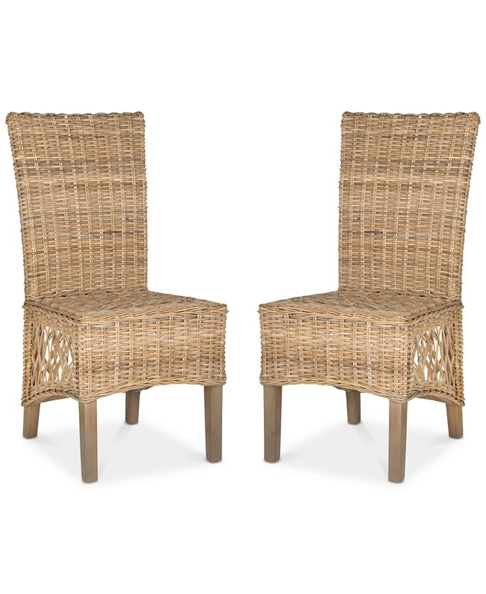 Safavieh - Karmon Set of 2 Dining Chairs, Quick Ship