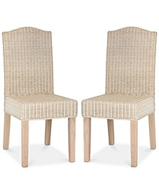 Alicea Set of 2 Wicker Dining Chairs