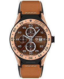 TAG Heuer Modular Connected 2.0 Men's Swiss Light Brown Leather Strap Smart Watch 45mm SBF8A5000.32FT6110