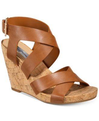 Landor Strappy Wedge Sandals, Created