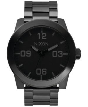 NIXON Men'S Corporal Stainless Steel Bracelet Watch 48Mm A346 in Black