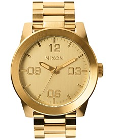 Nixon Men's Corporal Stainless Steel Bracelet Watch 48mm A346