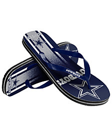 Forever Collectibles Dallas Cowboys Gradient Big Logo Flip Flops