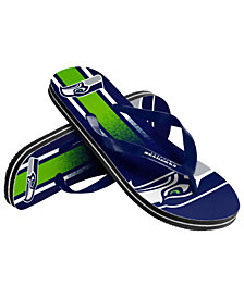Forever Collectibles Seattle Seahawks Gradient Big Logo Flip Flops