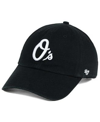 '47 Brand Baltimore Orioles Black White Clean Up Cap