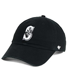 '47 Brand Seattle Mariners Black White Clean Up Cap