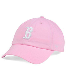 '47 Brand Women's Boston Red Sox Pink/White Clean Up Cap