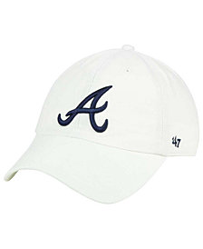 '47 Brand Atlanta Braves White Clean Up Cap