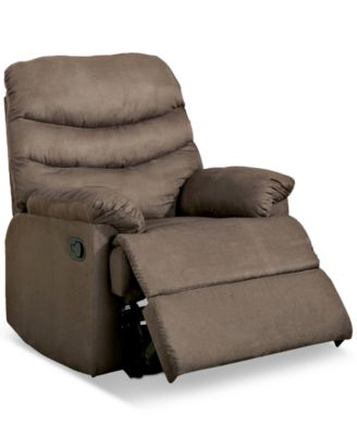 jerrie microfiber recliner quick ship - Mission Style Recliner