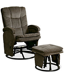 Eildon Swivel Recliner and Ottoman Set, Quick Ship