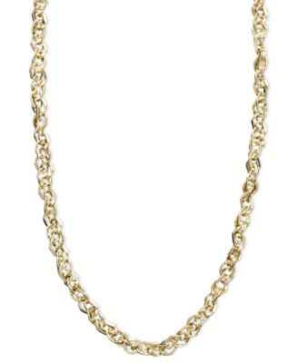 "14k Gold Necklace, 16"" Perfectina Chain Necklace (1-1/8mm)"
