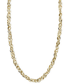"Italian Gold 14k Gold Necklace, 16"" Perfectina Chain Necklace (1-1/4mm)"