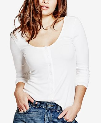 GUESS Snap-Front Top