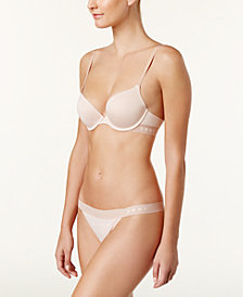 DKNY Contrast-Band Push-Up Bra & Thong